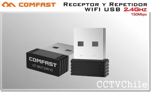 COMFAST Adaptador y Repetidor USB WIFI inalámbrico 150Mbps 2.4Ghz
